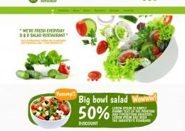 Salatbar Webseite