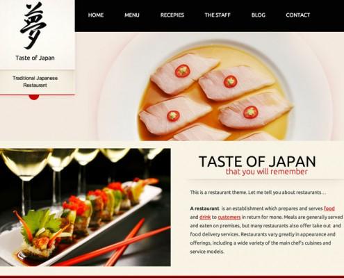 Wordpress Theme für japanische Restaurants