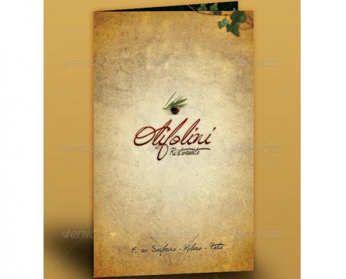 italienisches Restaurant Menükarte