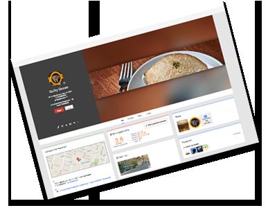 Restaurant google+ page