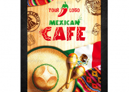 mexikanisches Restaurant Flyer