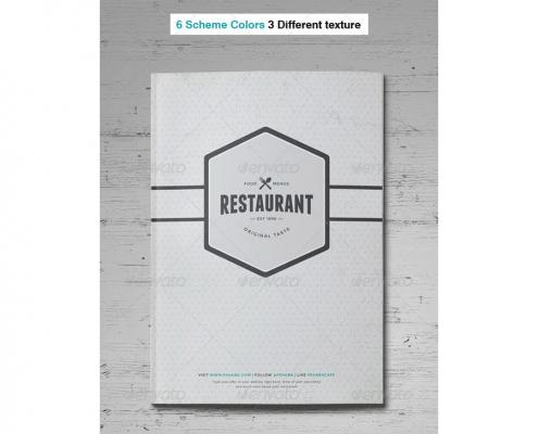 01 food menu front cover