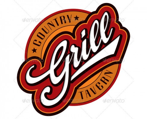 Grill Hand Lettering Design