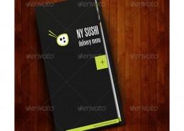 Sushi Menu Catering Food Brochure 3