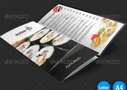Sushi Menu Tri-Fold Brochure 1