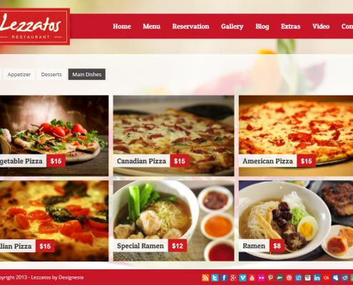 Lezzatos Pizzeria WordPress Theme