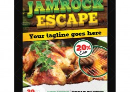 Jamrock Escape Flyer Template 1