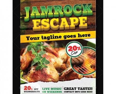 Jamrock Escape Flyer Template 1