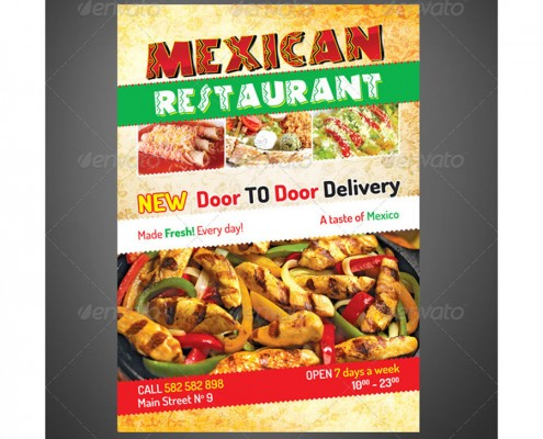 Mexican Restaurant Flyer 1
