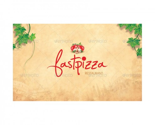 Restaurant Menu Design + Postcard 07_front card