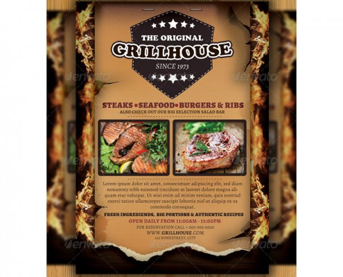 Grillhouse-Restaurant-Flyer-Ad-Preview 1
