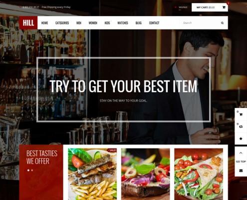 Hill-Theme-Lieferdienst-Restaurant