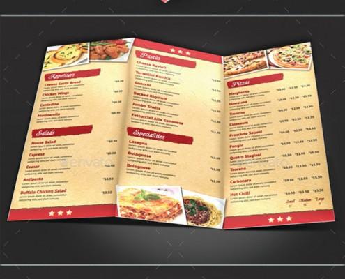 3seitige-faltbare-Speisekarte-Pizzeria