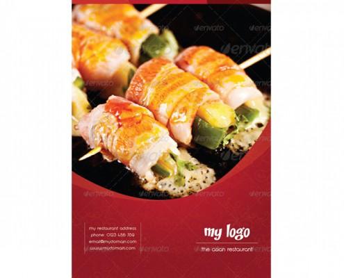 Asian-Style-Speisekarte-Vorderseite