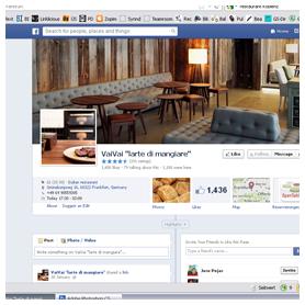 restaurant facebook seite