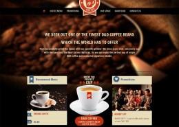 Cafe Coffeeshop Kaffee Webseite