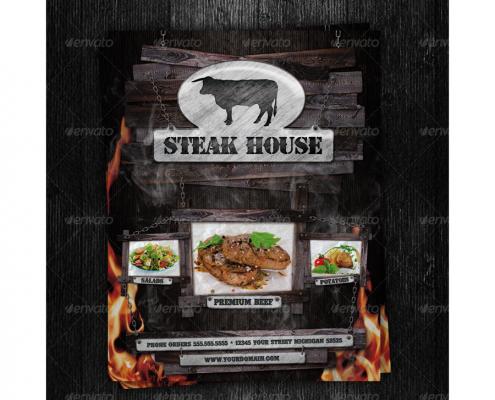 Restaurant Flyer Steakhouse