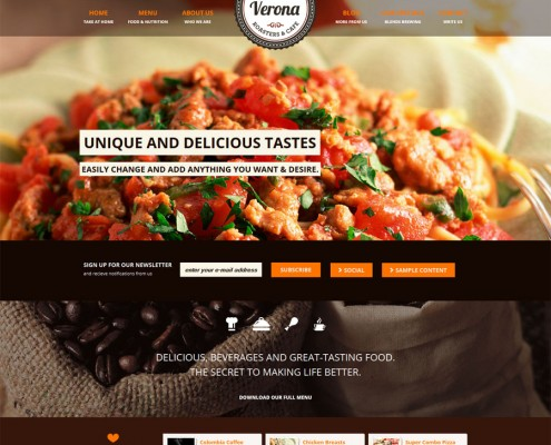 Verona Restaurant WordPress Theme