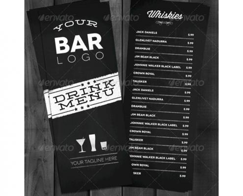 bistro lounge bar getrnkekarte cocktailkarte - Getrankekarte Muster
