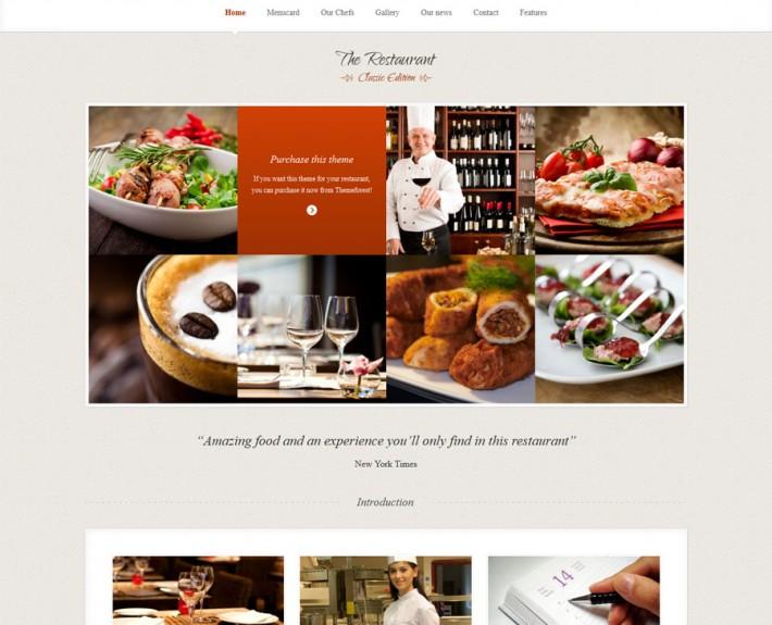Elegante Restaurant Homepage Vorlage
