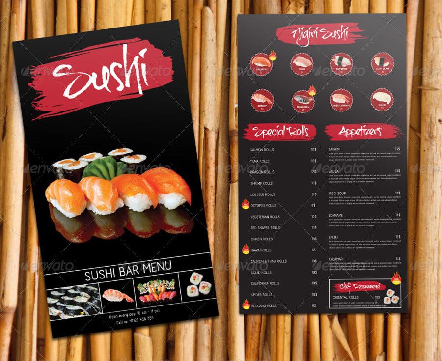 sushi bar restaurant men252karte speisekarte