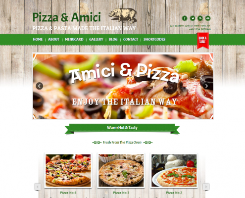 Delimondo Pizzeria WordPress Theme