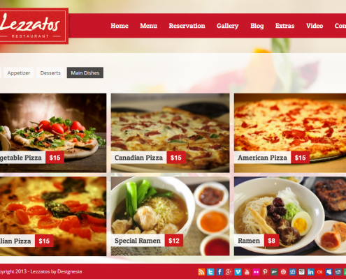 Lezzatos Pizzeria WordPress Theme