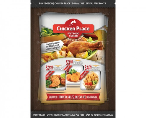 Chicken Place - Fast Food Flyer