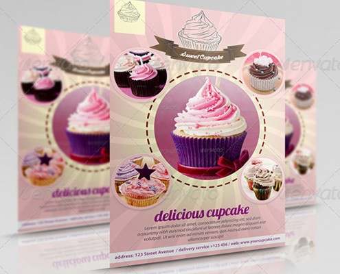 Sweet and Modern Cupcake Flyer 1