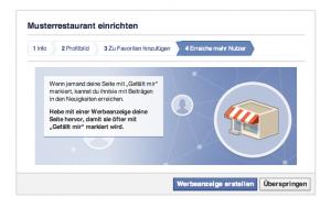 Facebookwerbung Restaurant