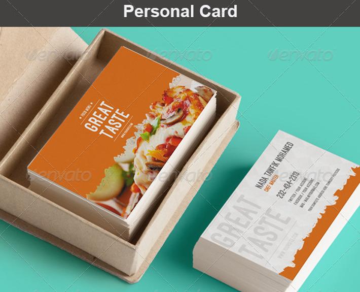 Food Menu Pack1 Speisekarte Flyer Und Visitenkarte